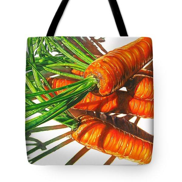 Carrot Top Shadows Tote Bag