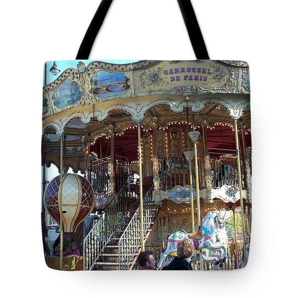 Tote Bag featuring the photograph Carrousel De Paris by Barbara McDevitt