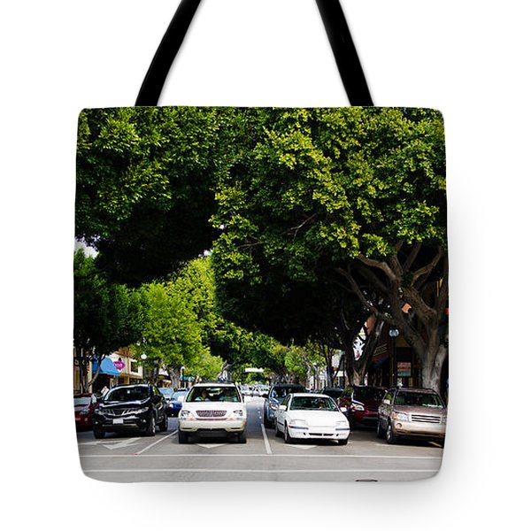 Cars On The Road In Downtown San Luis Tote Bag