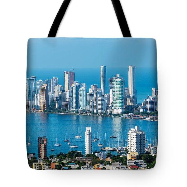 Cartagena Skyscapers Tote Bag
