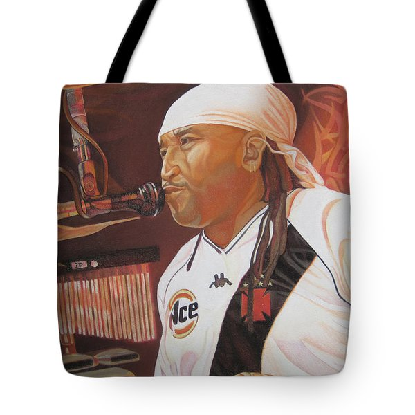 Carter Beauford At Red Rocks Tote Bag by Joshua Morton