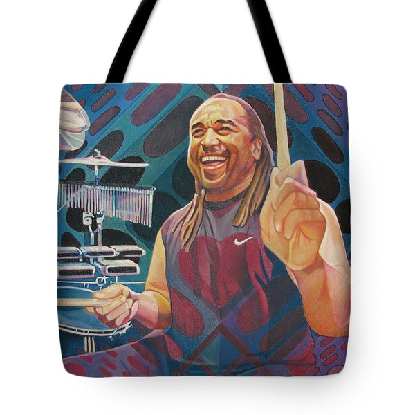 Carter Beauford Pop-op Series Tote Bag by Joshua Morton