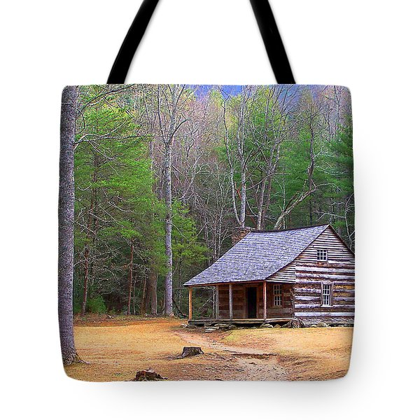 Carter Shield's Cabin II Tote Bag by Jim Finch