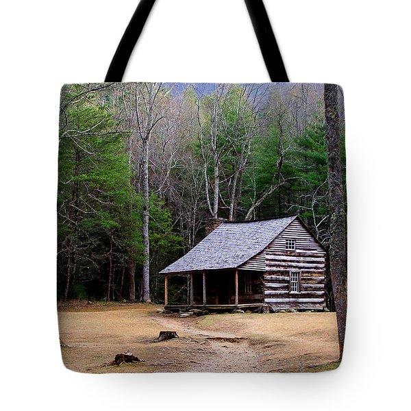 Carter Shields' Cabin Tote Bag by Jim Finch