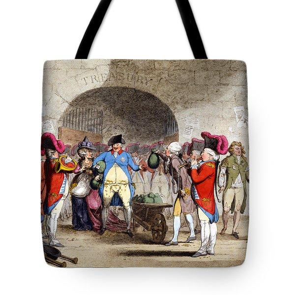 Cartoon British Debt, 1786 Tote Bag