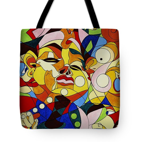 Cartoon Painting With Hidden Pictures Tote Bag