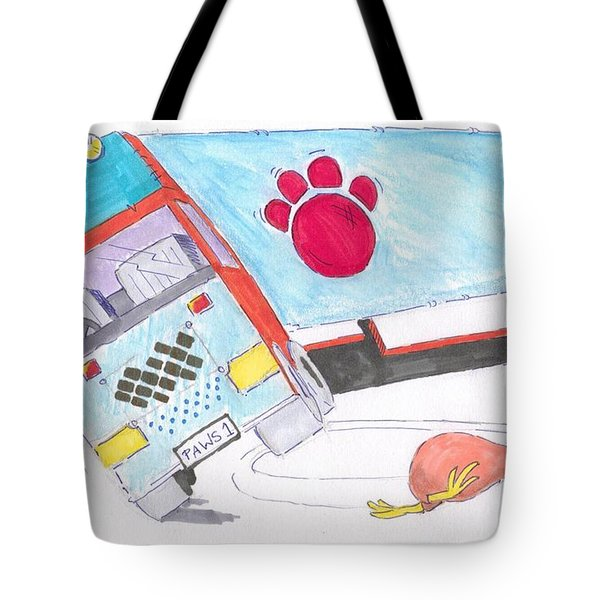 Cartoon Truck Lorry Tote Bag