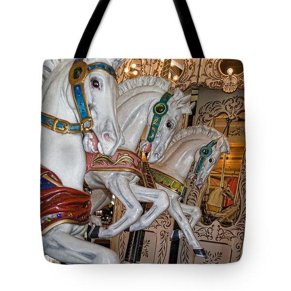Caruosel Horses Tote Bag