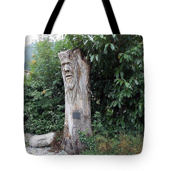 Carved Tree Tote Bag