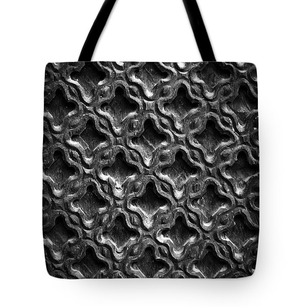 Carved Wood Texture Tote Bag