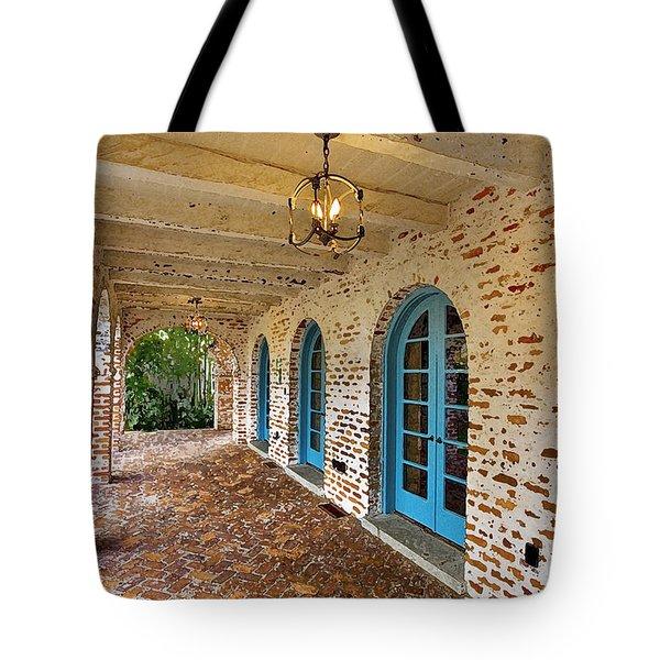 Casa De Feliz Portico Db Tote Bag by Rich Franco