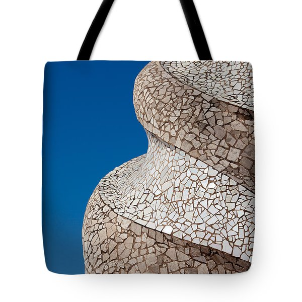 Casa Mila Abstract Chimney Detail In Barcelona Tote Bag