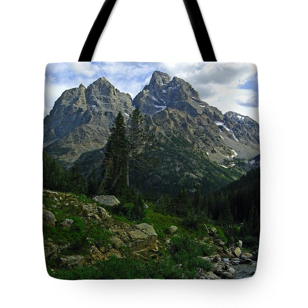 Tote Bag featuring the photograph Cascade Creek The Grand Mount Owen by Raymond Salani III