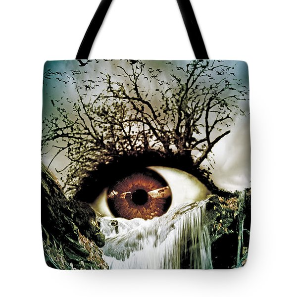 Cascade Crying Eye Tote Bag