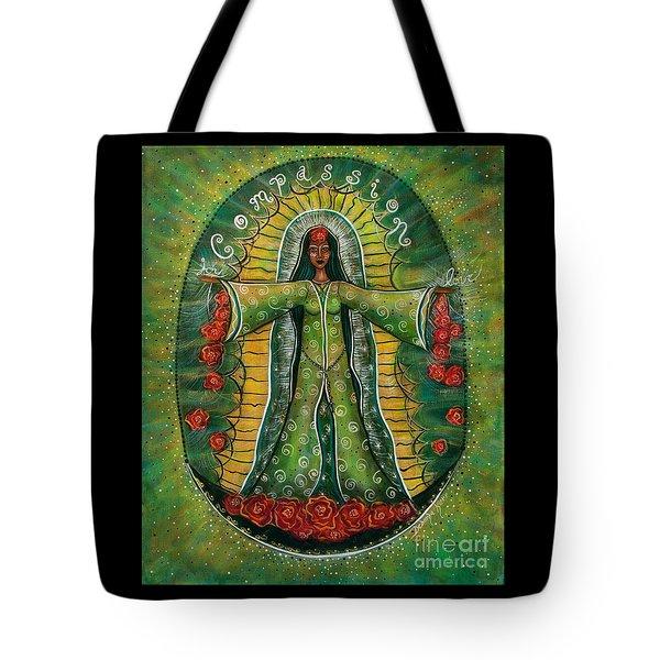 Cascade Of Roses Madonna Tote Bag by Deborha Kerr