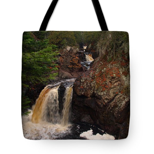 Tote Bag featuring the photograph Cascade River by James Peterson