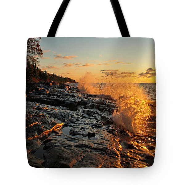 Cascade Sunrise Tote Bag by Melissa Peterson
