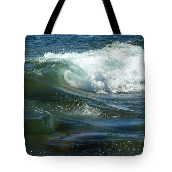 Tote Bag featuring the photograph Cascade Wave by James Peterson