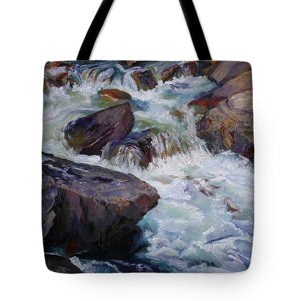 Cascades After Daniel Edmondson Tote Bag