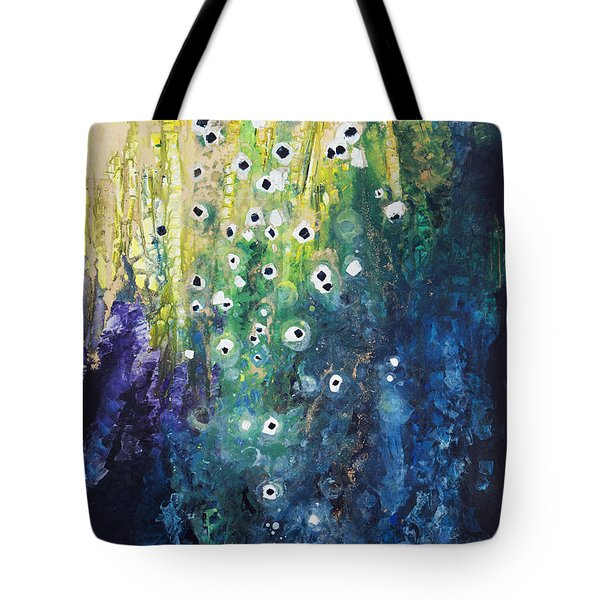 Cascading Colors Tote Bag by Tara Thelen
