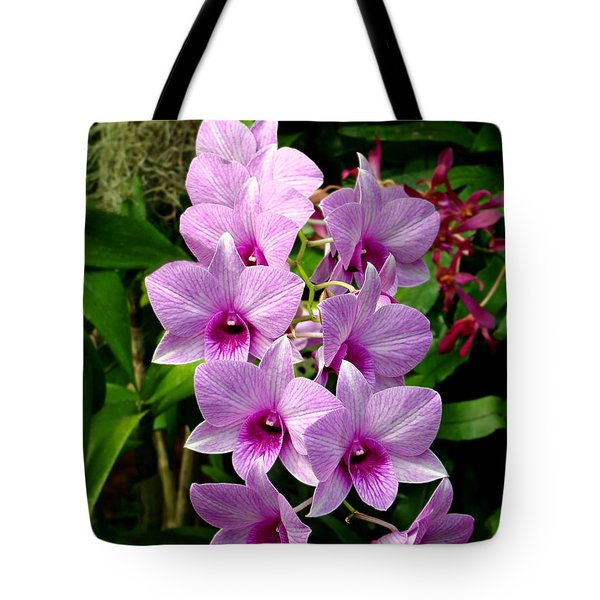 Cascading Lilac Orchids Tote Bag by Sue Melvin