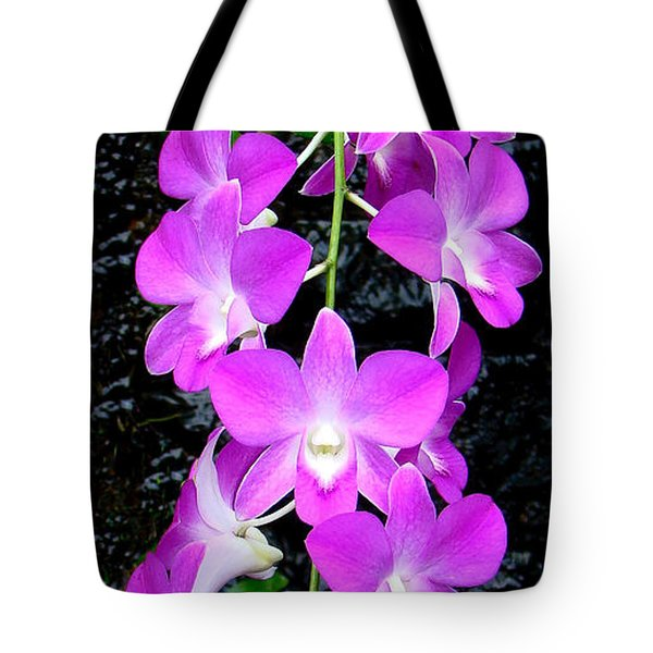 Tote Bag featuring the photograph Cascading Orchids by Sue Melvin