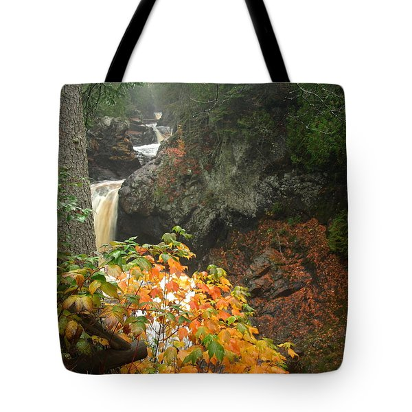 Tote Bag featuring the photograph Cascading Steps by James Peterson