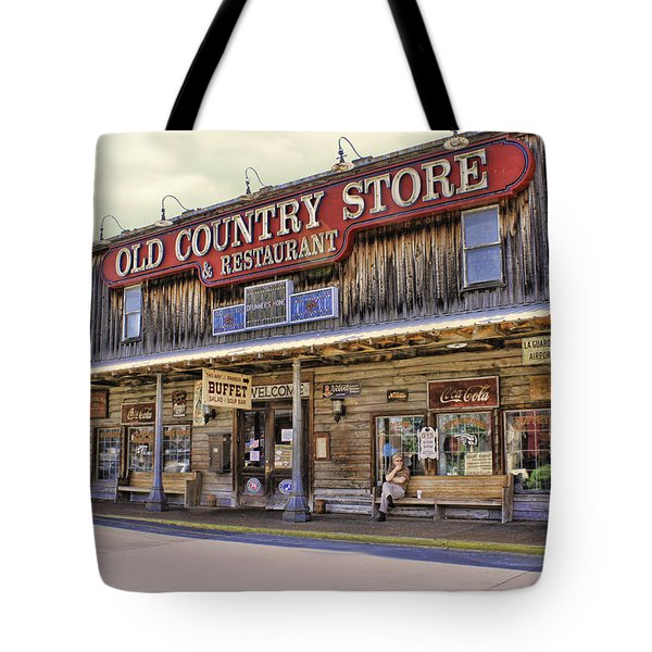 Casey Jones Village Store Tote Bag by Bonnie Willis