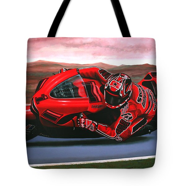 Casey Stoner On Ducati Tote Bag