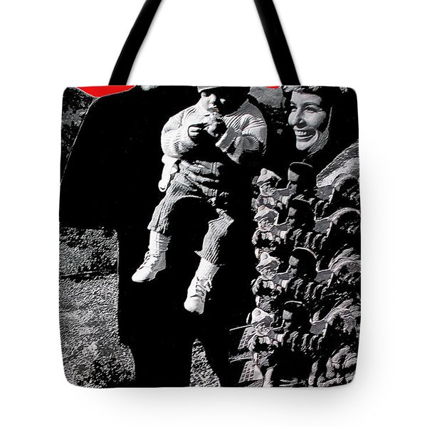 Tote Bag featuring the photograph Cash Family In Red Old Tucson Arizona 1971-2008 by David Lee Guss