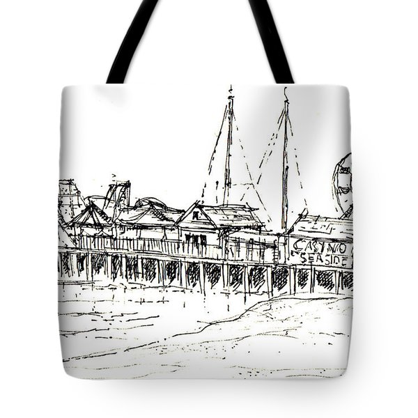 Casino Pier In Seaside Heights Nj Tote Bag