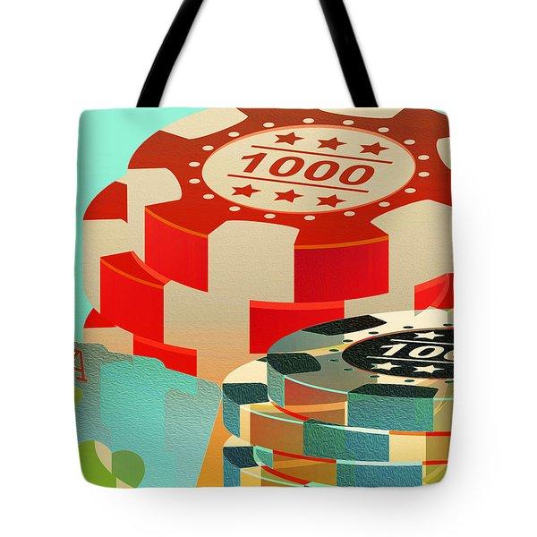Casino Token Tote Bag