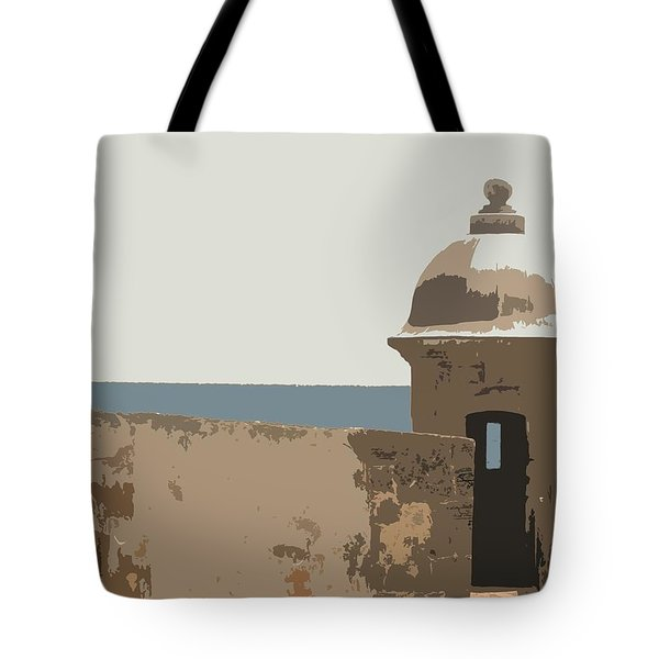 Casita Tote Bag by Julio Lopez