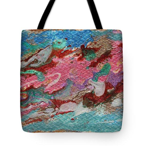 Caspian Sea Abstract Painting Tote Bag
