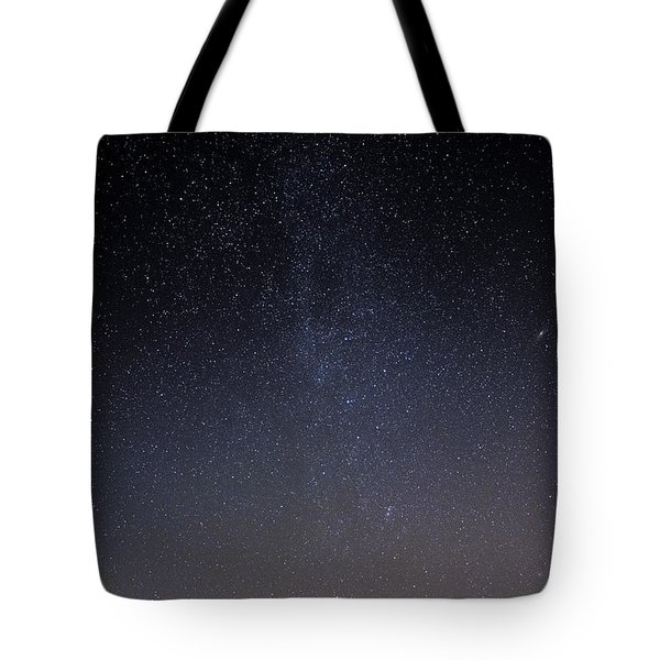 Tote Bag featuring the photograph Cassiopeia And Andromeda Galaxy 01 by Greg Reed