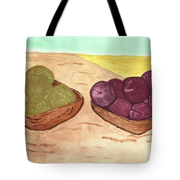 Castaway Fruit Tote Bag by Tracey Williams