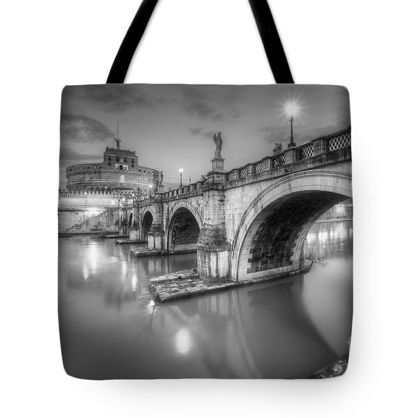 Castel Sant' Angelo Bw Tote Bag