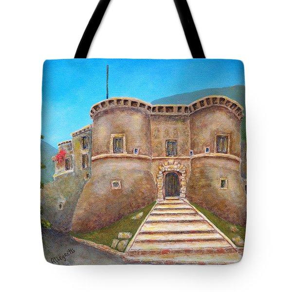 Castello Ducale Di Faicchio Tote Bag by Pamela Allegretto