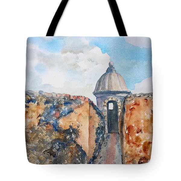 Castillo De San Cristobal Sentry Door Tote Bag