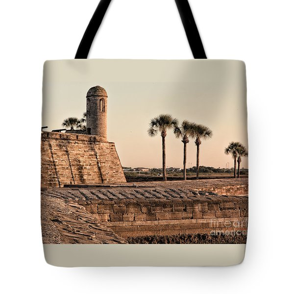 Tote Bag featuring the photograph Castillo De San Marcos by Mary Lou Chmura