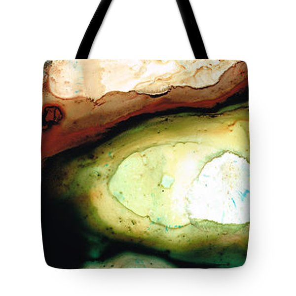 Casting Shadows - Earthy Abstract By Sharon Cummings Tote Bag by Sharon Cummings