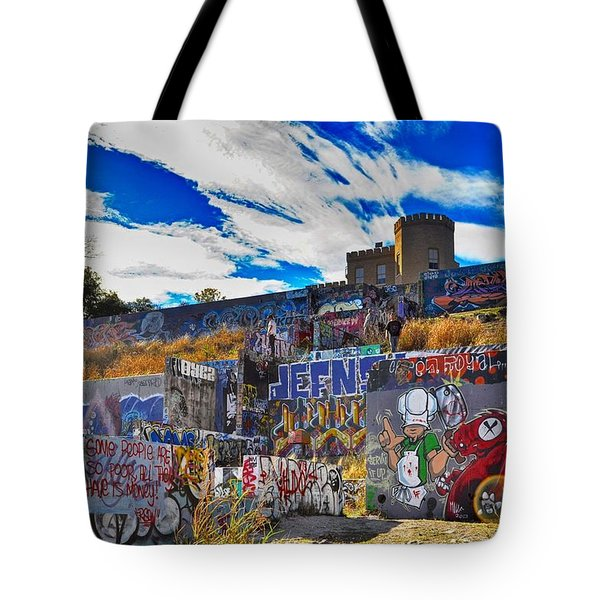 Castle Graffiti Art Tote Bag