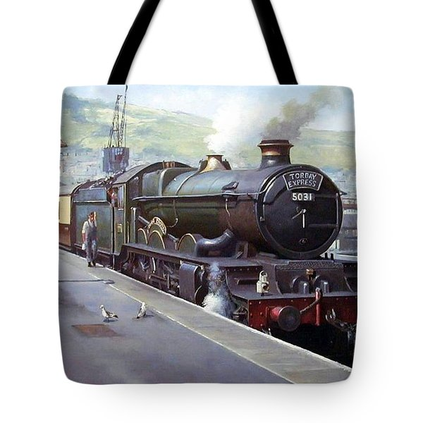 Castle At Kingswear 1957 Tote Bag