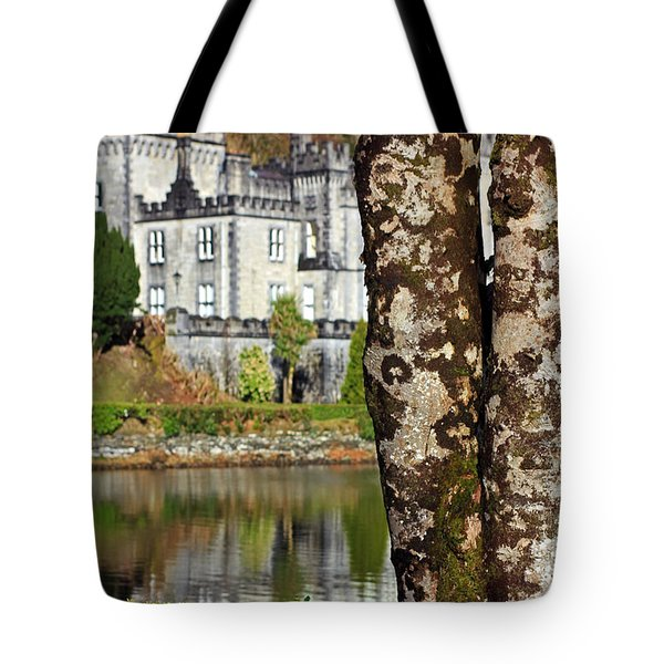 Castle Behind The Trees Tote Bag