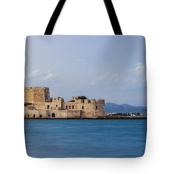 Castle Bourtzi And Buoy Tote Bag