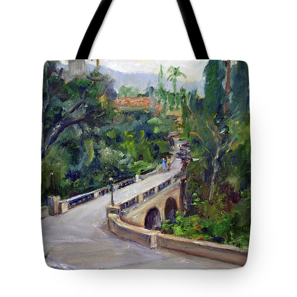 Castle Bridge Tote Bag