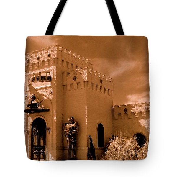 Tote Bag featuring the photograph Castle By The Road by Rodney Lee Williams