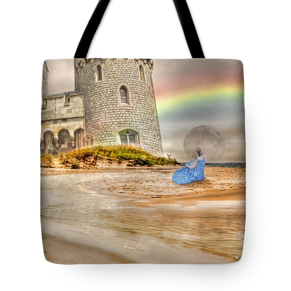 Castle By The Sea Tote Bag by Betsy Knapp