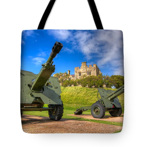 Castle Cannons Tote Bag by Tim Stanley