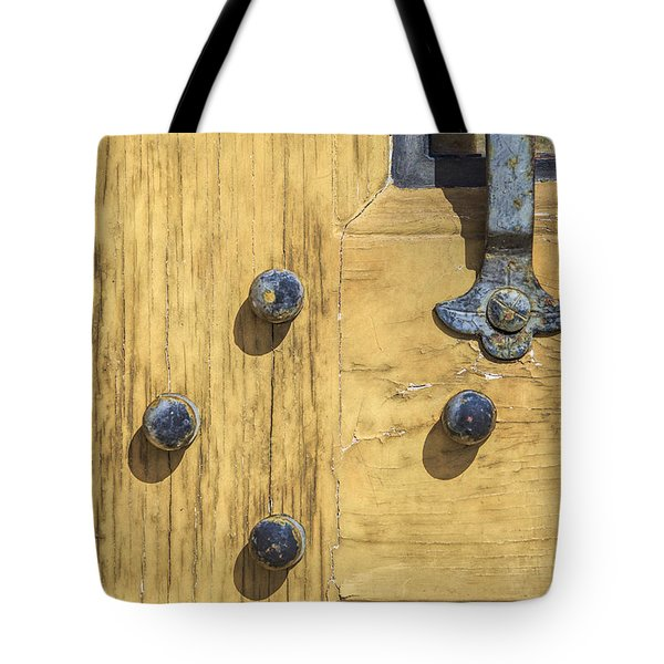 Tote Bag featuring the photograph Castle Door II by David Letts
